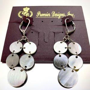 Premier Designs Tahiti Mother of Pearl Earrings